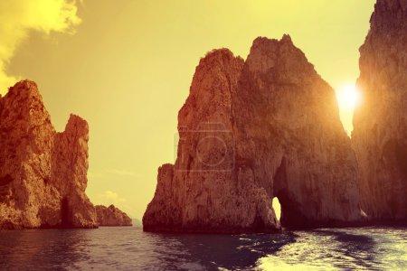 Faraglioni Cliffs in Capri