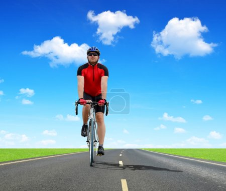 Photo for Cyclist riding on a road bike - Royalty Free Image