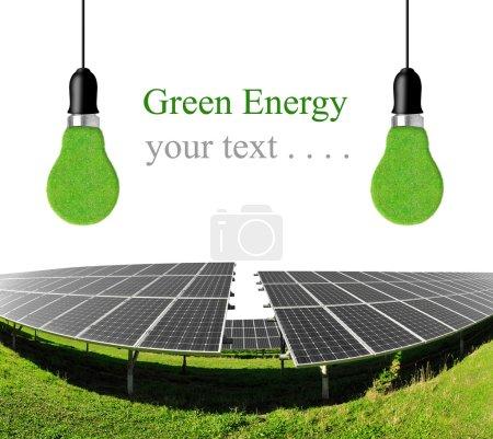 Solar energy panels with bulbs