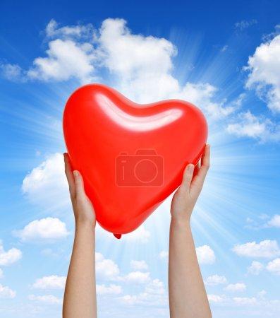 Balloon in the shape heart