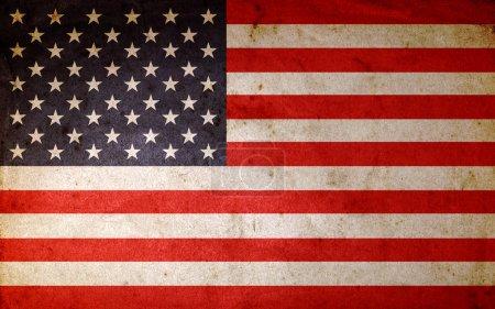 Photo pour Drapeau américain grunge - image libre de droit
