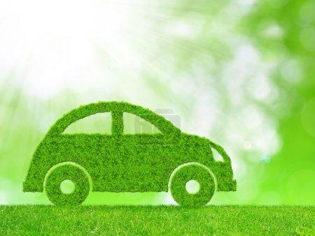Foto de Coche verde eco - concepto de energía ecológica - Imagen libre de derechos