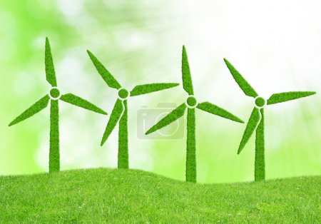 Green wind turbines