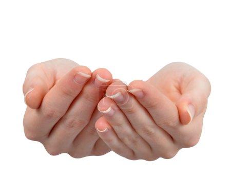 empty female teen hands