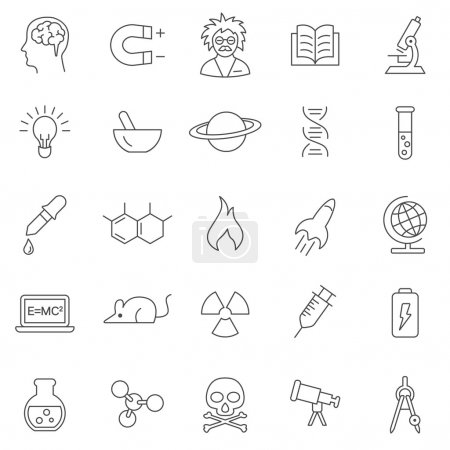 Science  icons, set.
