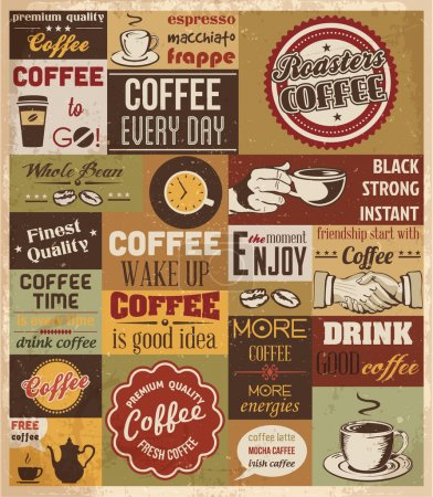 Illustration for Collection of Coffee Design Elements. Vector Illustration - Royalty Free Image