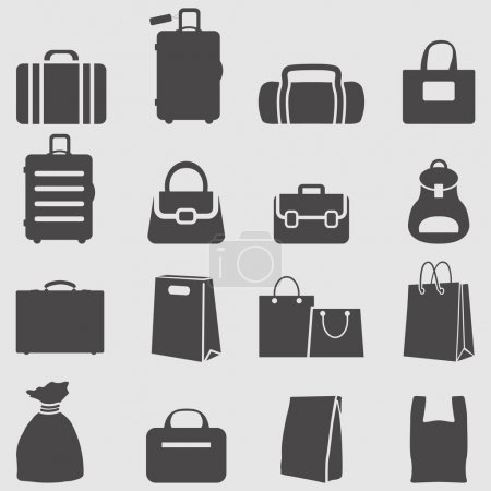 Bag icons set.