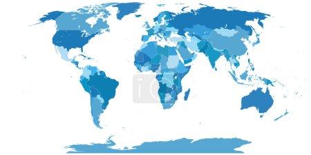 High Detail World map.