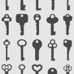 Key icons set. Vector luustration