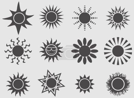 Sun icons set.