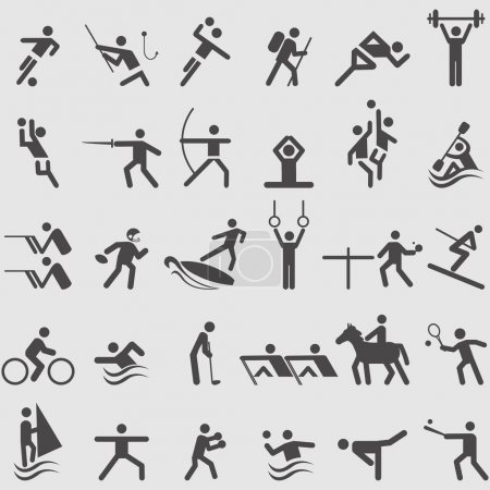 Illustration for Sport icons set.  Vector illustration - Royalty Free Image