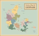 Denmark-highly detailed map