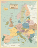 Europa-highly detailed map Vector illustration