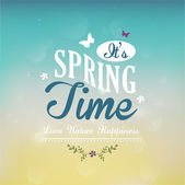 It's Spring Time text Vector illustration