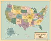 USA-highly detailed map.
