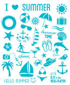 Summer Icons Set Vector illustration