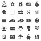 Bank black icons