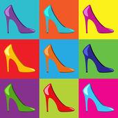 Pop Art women shoes