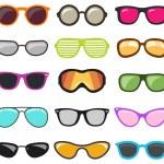 Colorful glasses set. Vector illustration...