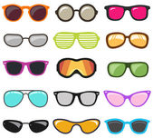 colorful glasses set