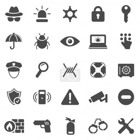 Security black icons