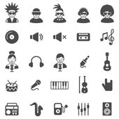 Music black icons