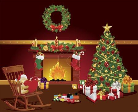 cottage christmas room