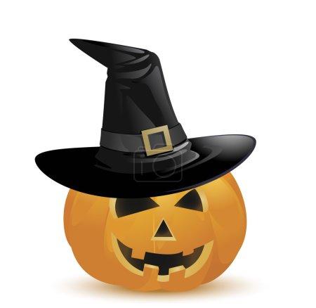 pumpkin with black hat