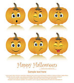 Halloween Pumpkins set on white background