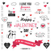 Valentine`s day design set
