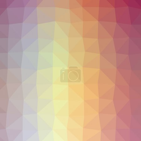 Illustration for Abstract colorful triangular or polygonal background illustration. - Royalty Free Image