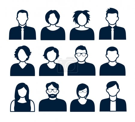 Illustration for Collection of characters - avatars. Can be used for social networking. - Royalty Free Image
