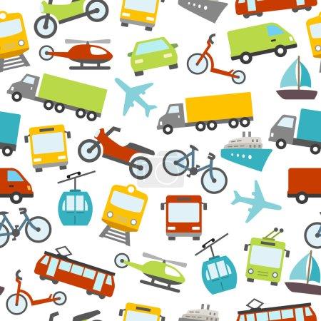 Transport Icons Seamless Pattern