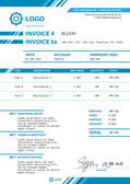 Invoice vector template design layout