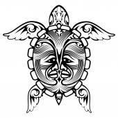 Tribal Totem Animal Turtle Tattoo