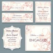 Variety in Shape Beautiful Wedding Invitation Card Elements
