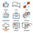 Set of vector SEO contour icons depicting rating  ...