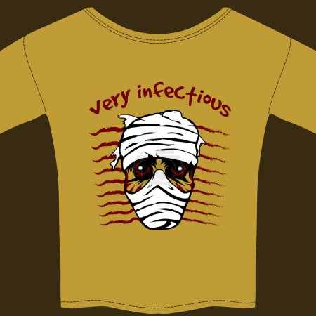 Very Infectious t-shirt design template