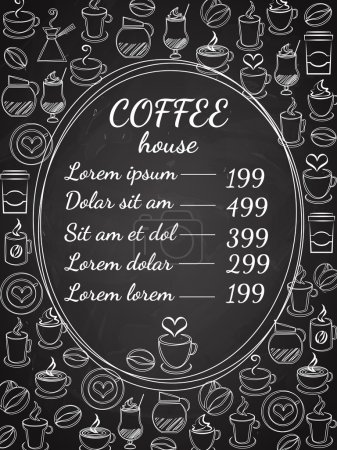 Coffee house chalkboard menu