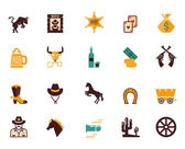Large set of Western flat vector icons