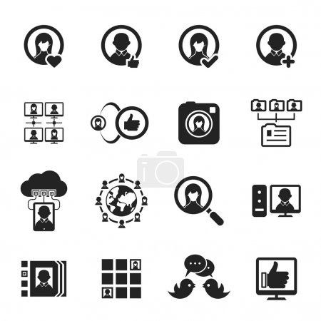 Social media and social network icons