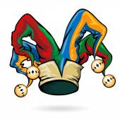Colored vector jester hat