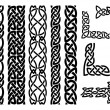 Set of celtic patterns and celtic ornament corners...