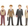 Generation of men from infants to seniors. Child a...
