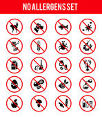 Allergen free products icons