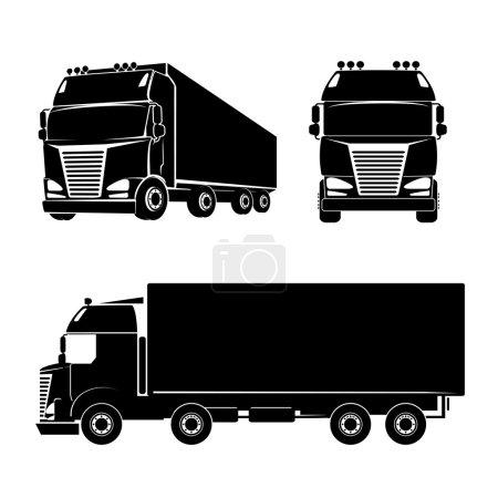 Silhouette truck icon