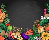 """Постер, картина, фотообои """"Еда итальянской меню фона с пространством для текста"""""""
