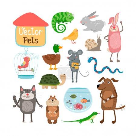 Photo pour Illustration vectorielle animaux isolés sur fond blanc - image libre de droit