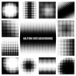 Set of halftone dots backgrounds. Round and textur...