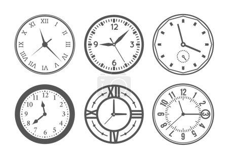 Wall clock vector set